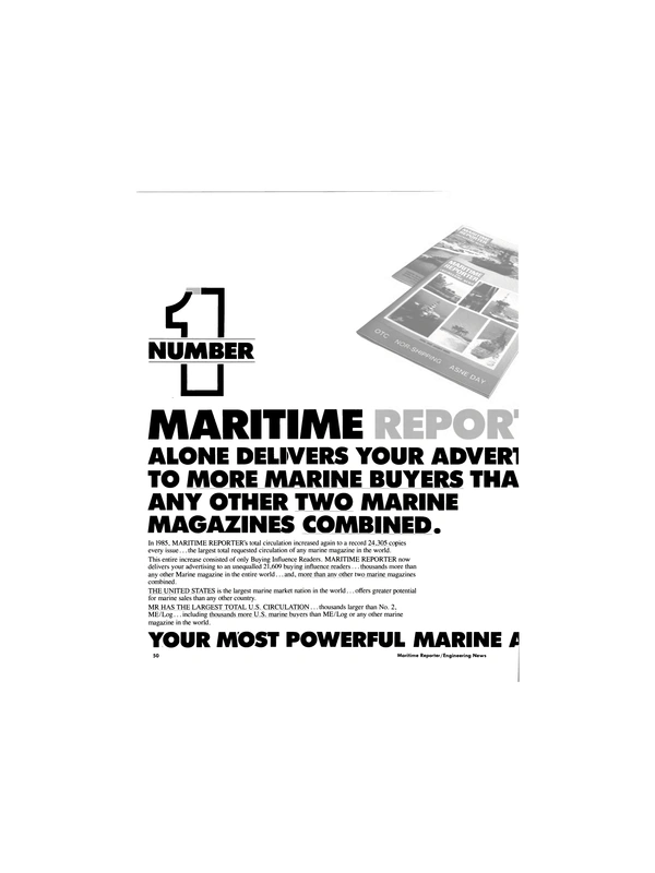 Maritime Reporter Magazine, page 48,  Jan 1986 United States
