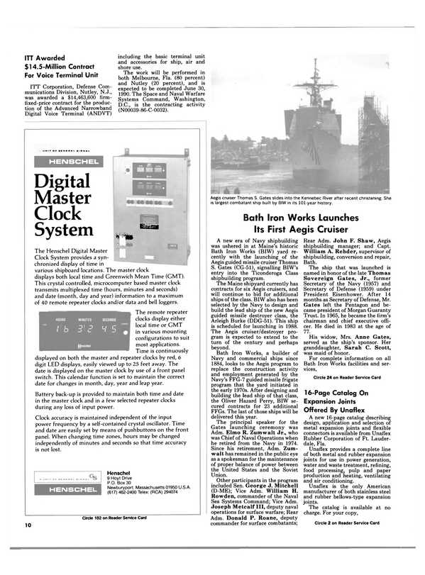 Maritime Reporter Magazine, page 8,  Feb 1986 Thomas Sovereign Gates , Jr.