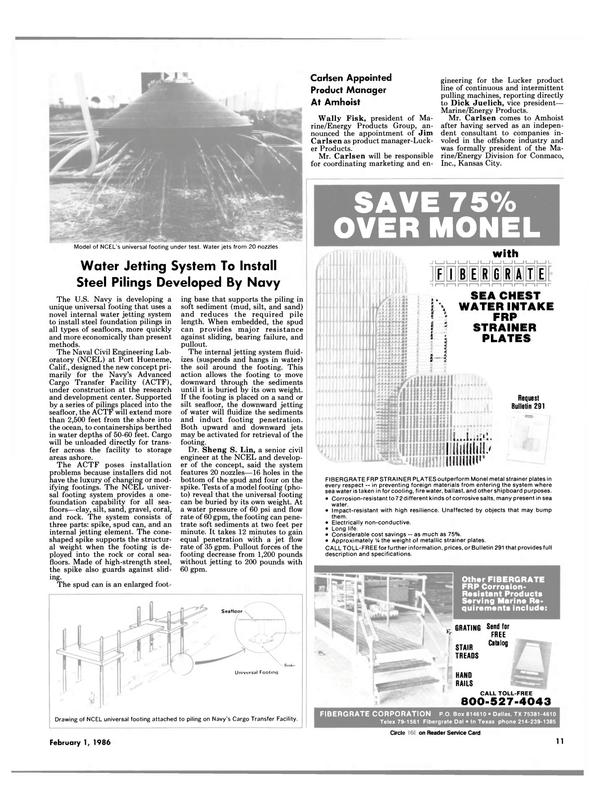 Maritime Reporter Magazine, page 9,  Feb 1986
