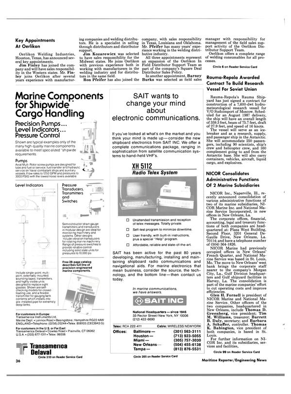 Maritime Reporter Magazine, page 34,  Feb 1986 Missouri