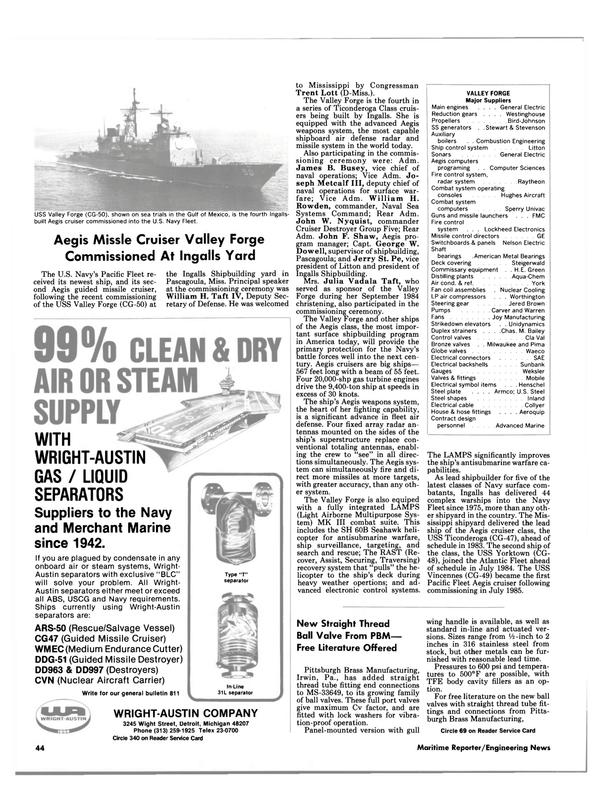 Maritime Reporter Magazine, page 42,  Feb 1986