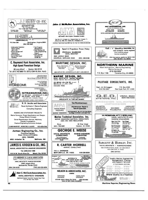 Maritime Reporter Magazine, page 44,  Feb 1986