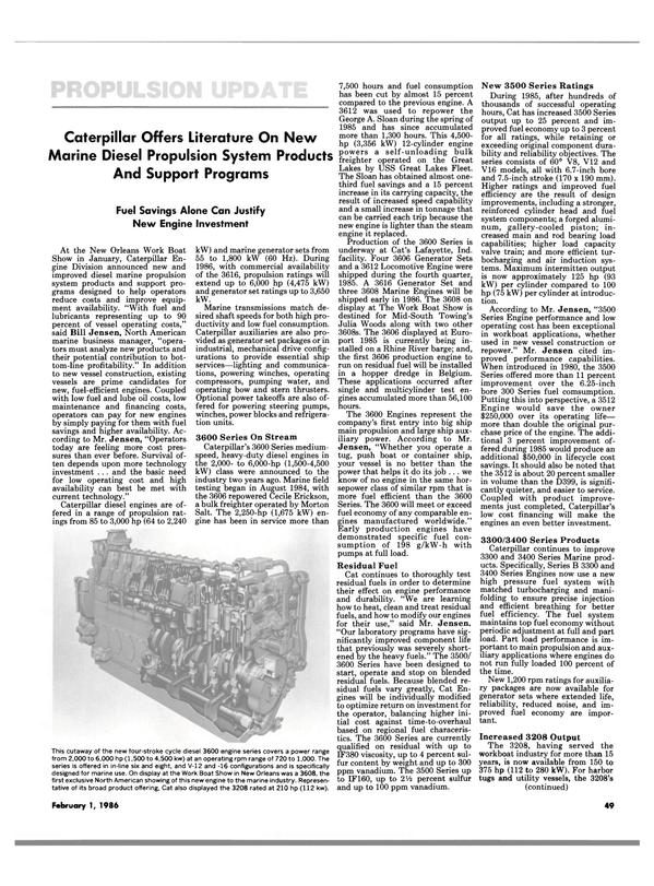 Maritime Reporter Magazine, page 47,  Feb 1986