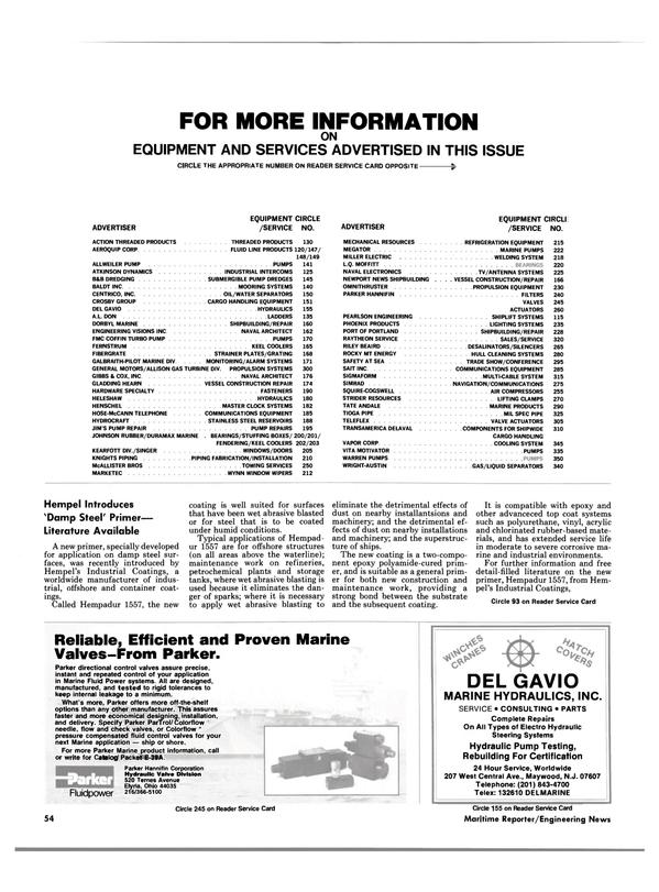 Maritime Reporter Magazine, page 52,  Feb 1986