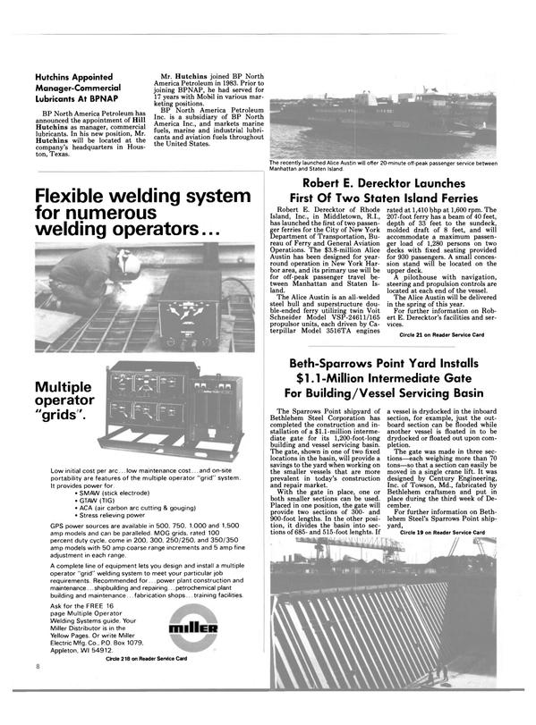 Maritime Reporter Magazine, page 6,  Feb 1986