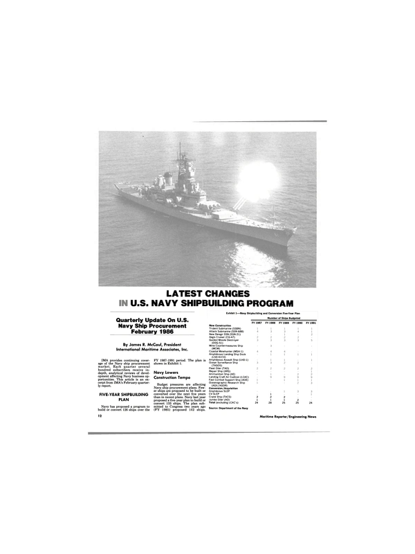 Maritime Reporter Magazine, page 10,  Mar 1986 Department of the Navy FY