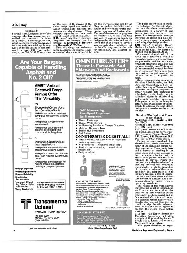 Maritime Reporter Magazine, page 14,  Apr 1986