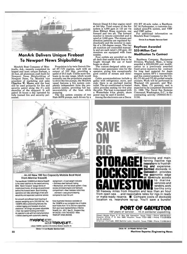Maritime Reporter Magazine, page 28,  Apr 1986 Virginia
