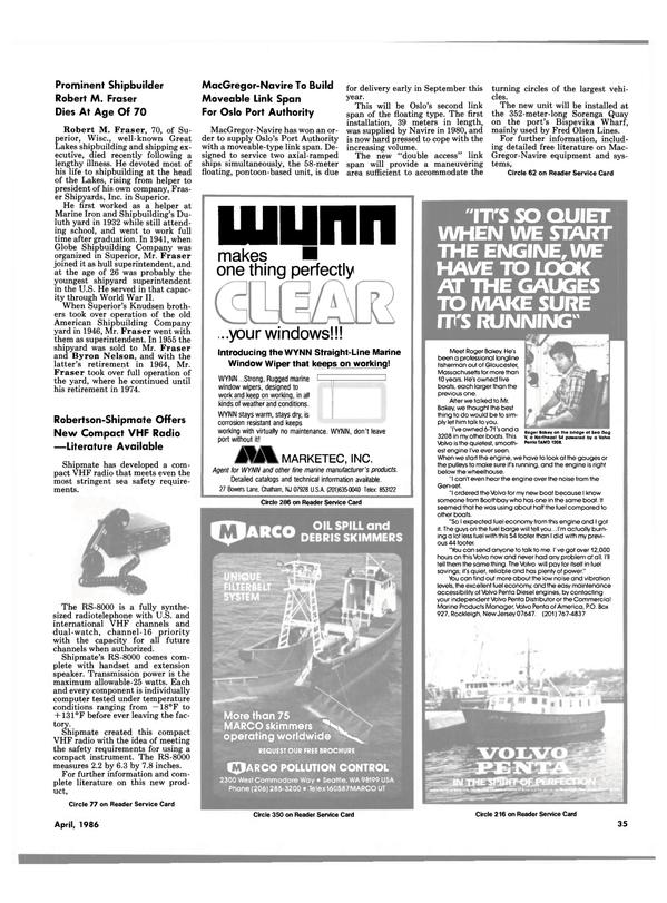 Maritime Reporter Magazine, page 31,  Apr 1986 Massachusetts