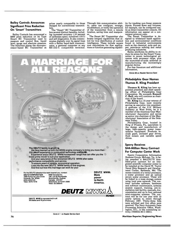 Maritime Reporter Magazine, page 72,  Apr 1986 vector processor