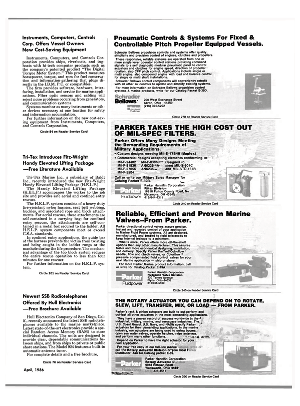 Maritime Reporter Magazine, page 89,  Apr 1986 RAM