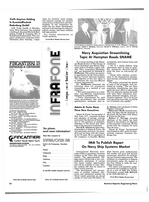 Maritime Reporter Magazine, page 20,  May 1986