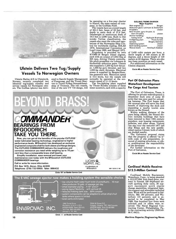 Maritime Reporter Magazine, page 8,  Jun 1986 Maryland