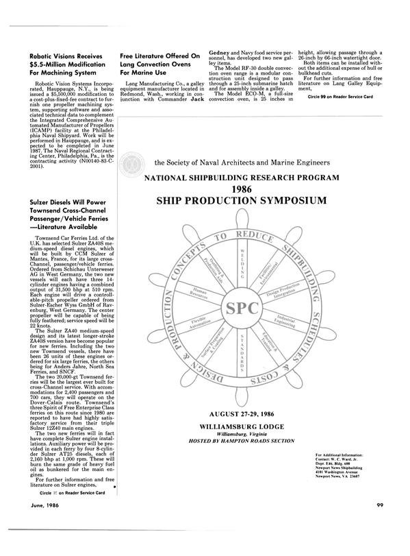 Maritime Reporter Magazine, page 99,  Jun 1986 New York