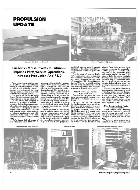 Maritime Reporter Magazine, page 20,  Jun 1986