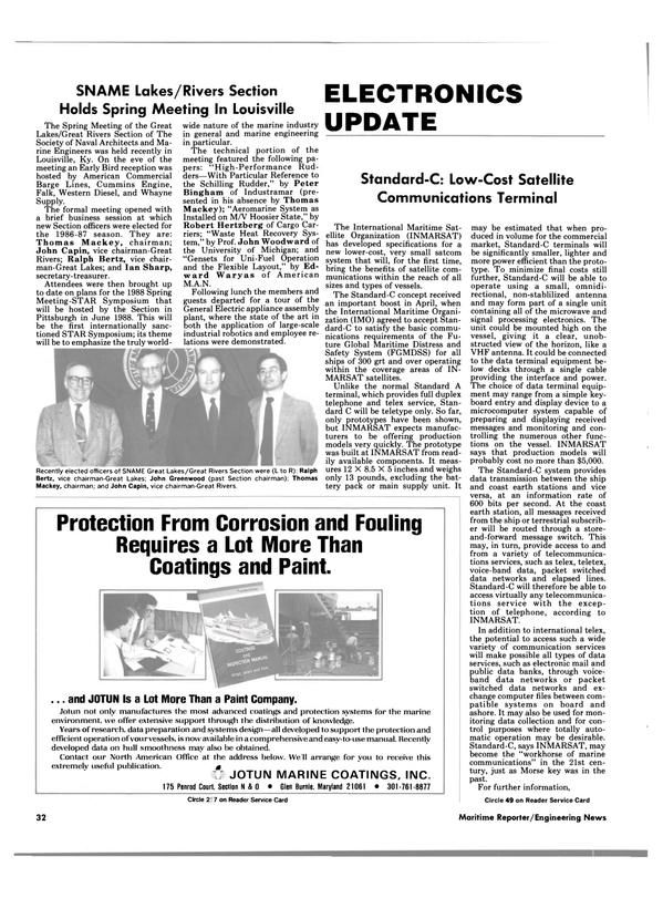 Maritime Reporter Magazine, page 32,  Jul 15, 1986