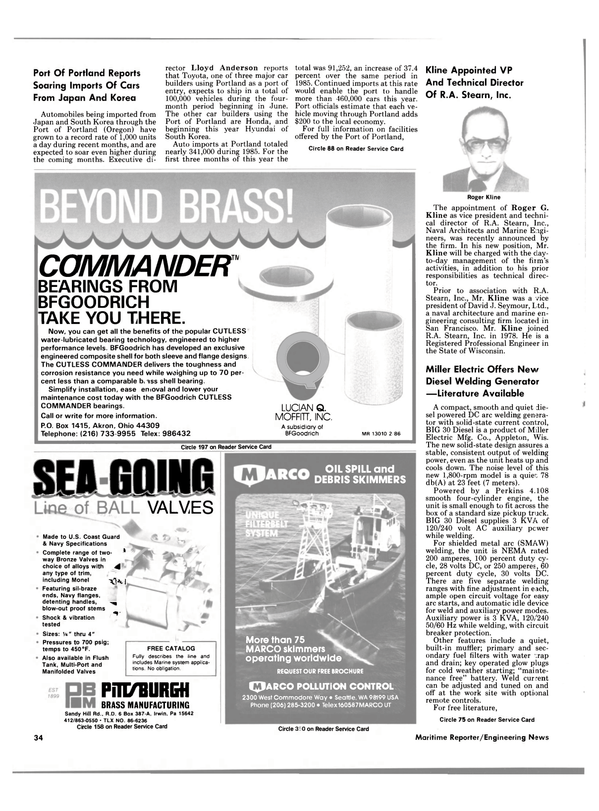 Maritime Reporter Magazine, page 34,  Jul 15, 1986 Oregon