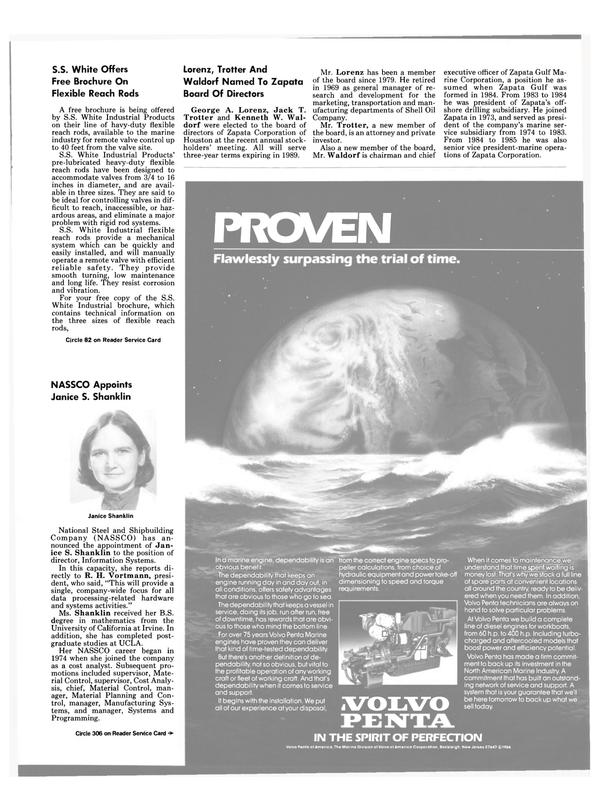 Maritime Reporter Magazine, page 35,  Jul 15, 1986
