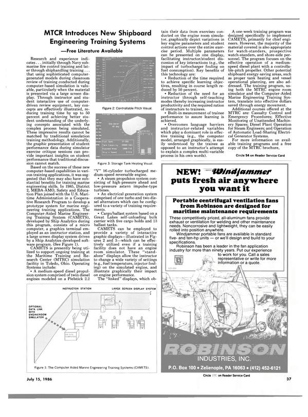 Maritime Reporter Magazine, page 37,  Jul 15, 1986