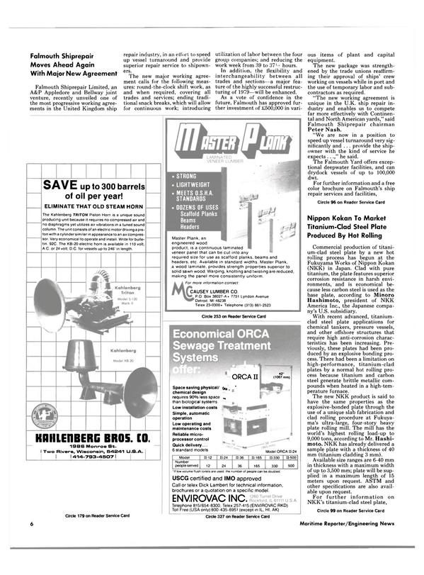 Maritime Reporter Magazine, page 4,  Jul 15, 1986