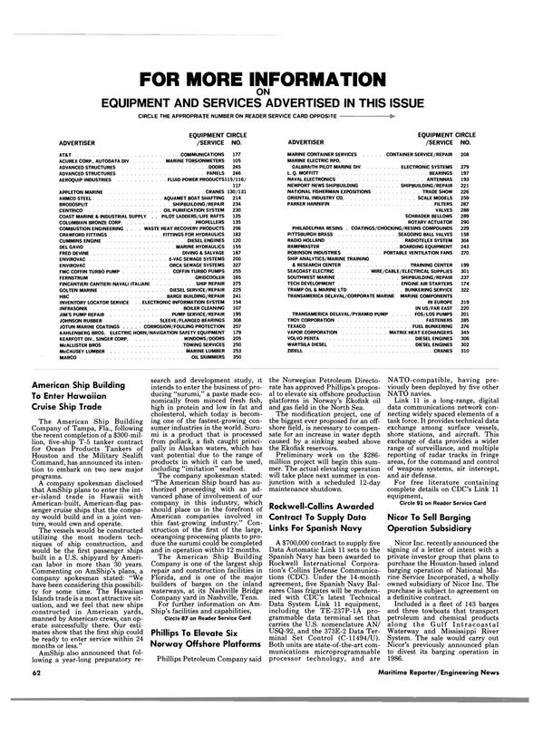 Maritime Reporter Magazine, page 62,  Jul 15, 1986 Hawaii