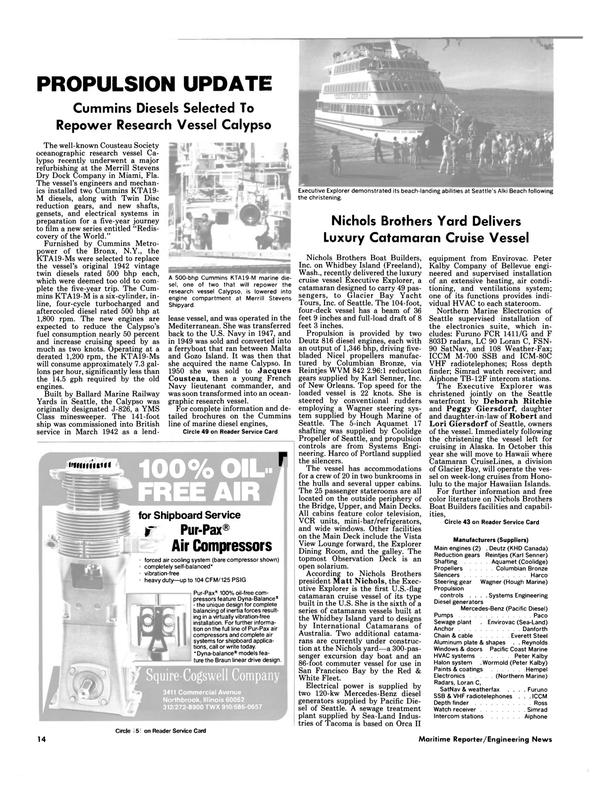Maritime Reporter Magazine, page 12,  Aug 1986