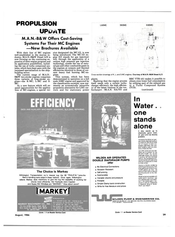 Maritime Reporter Magazine, page 27,  Aug 1986 Texas