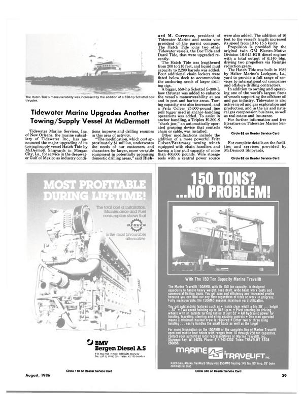 Maritime Reporter Magazine, page 37,  Aug 1986 Darol Tide
