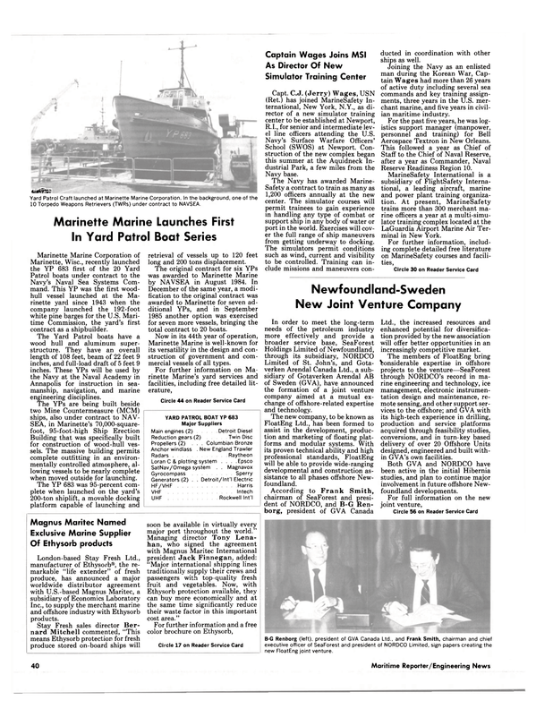 Maritime Reporter Magazine, page 38,  Aug 1986