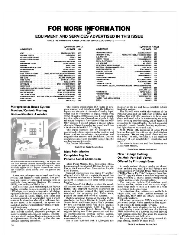 Maritime Reporter Magazine, page 50,  Aug 1986