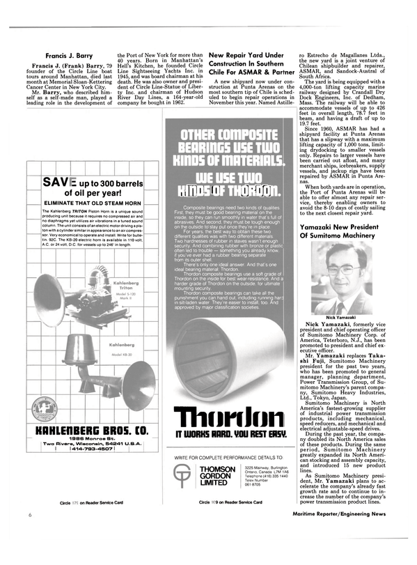 Maritime Reporter Magazine, page 4,  Aug 1986