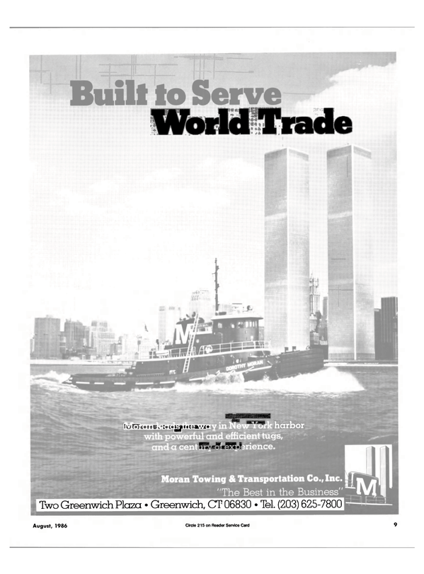 Maritime Reporter Magazine, page 7,  Aug 1986
