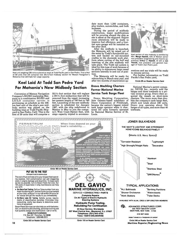 Maritime Reporter Magazine, page 8,  Sep 1986 Hawaii