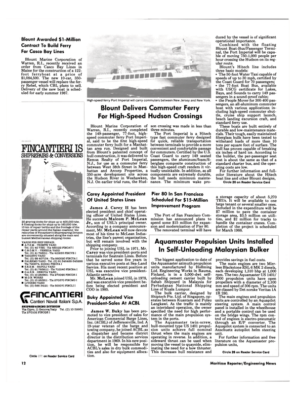 Maritime Reporter Magazine, page 10,  Sep 1986