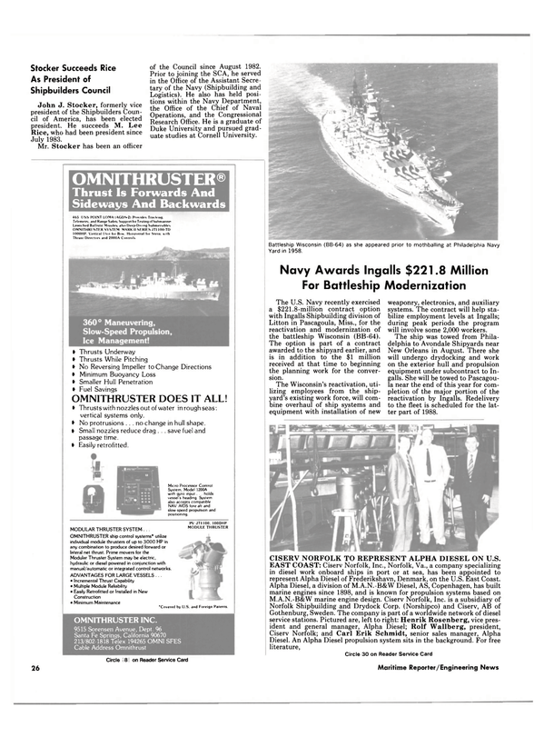 Maritime Reporter Magazine, page 24,  Sep 1986