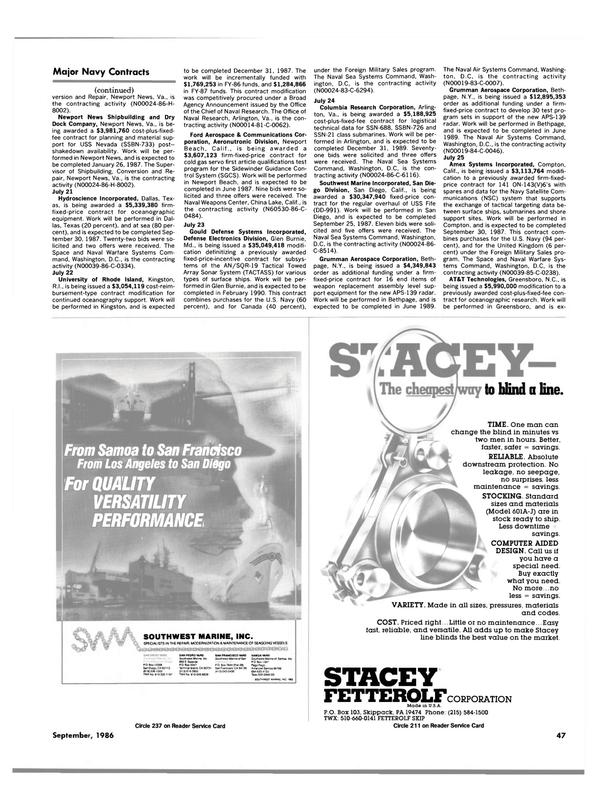 Maritime Reporter Magazine, page 45,  Sep 1986 Maryland
