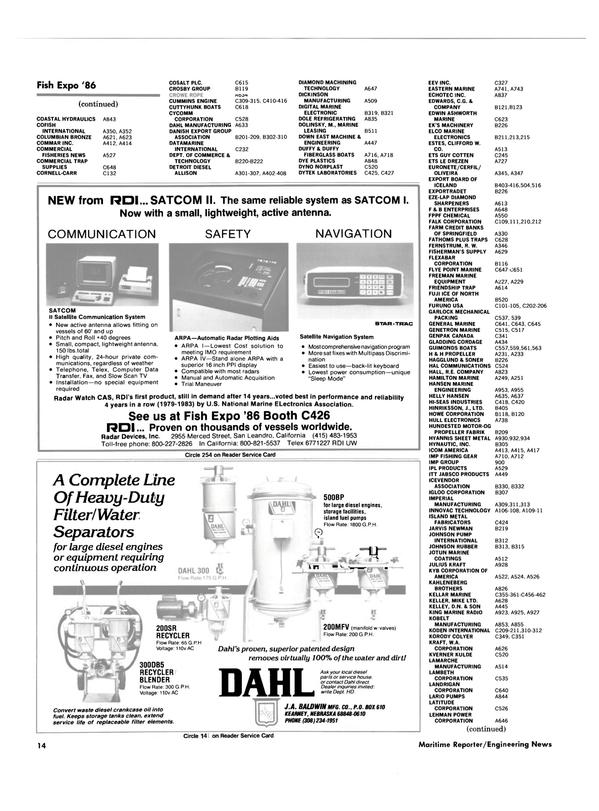 Maritime Reporter Magazine, page 12,  Oct 1986