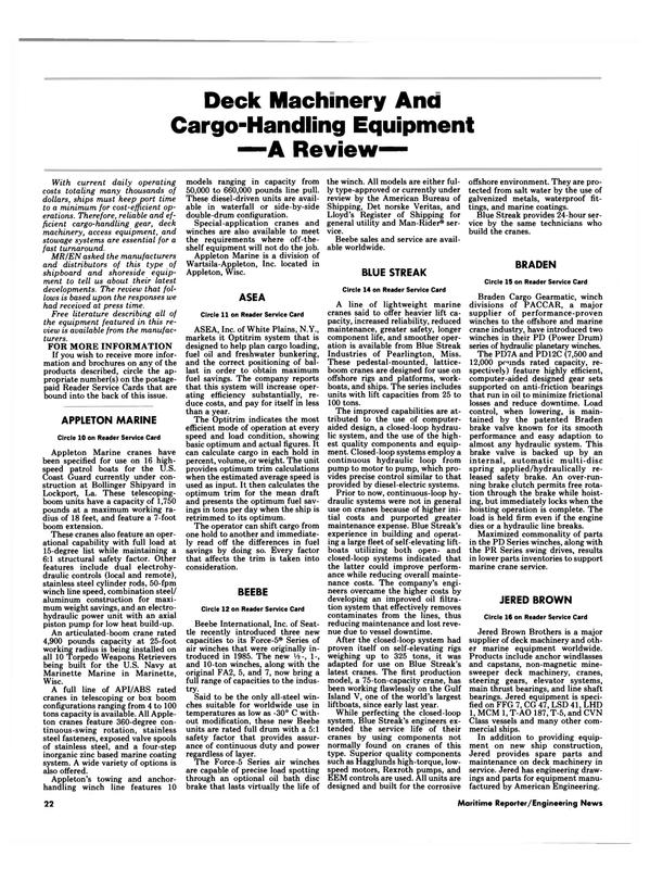 Maritime Reporter Magazine, page 20,  Oct 1986
