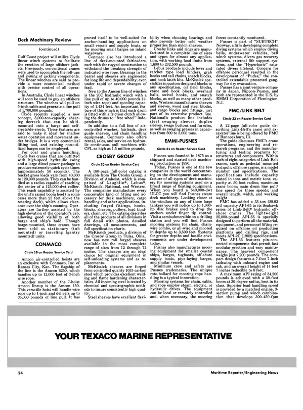 Maritime Reporter Magazine, page 22,  Oct 1986