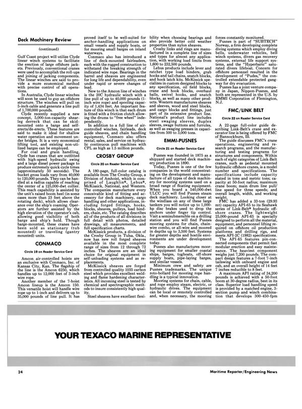 Maritime Reporter Magazine, page 22,  Oct 1986 New Jersey