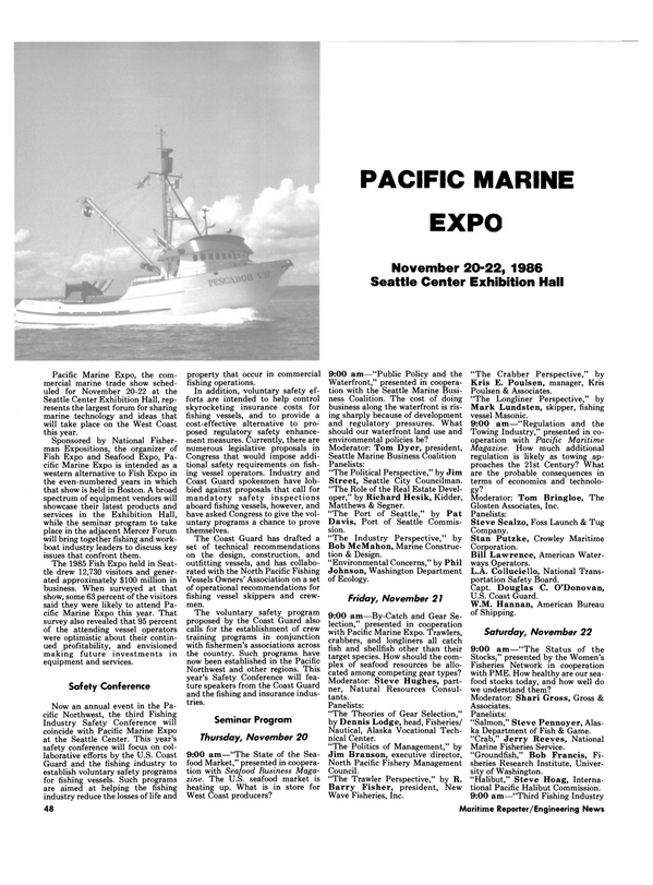 Maritime Reporter Magazine, page 46,  Oct 1986 Bob Francis
