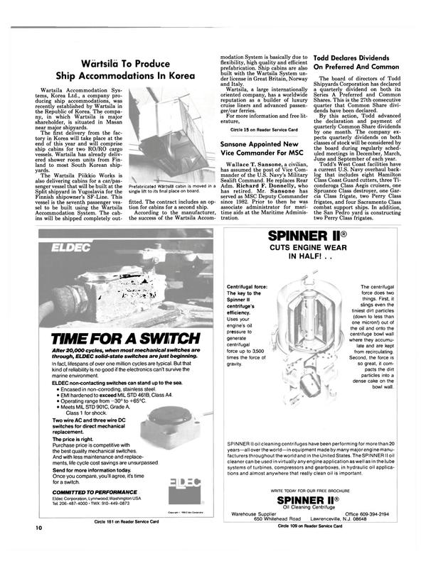 Maritime Reporter Magazine, page 8,  Nov 1986