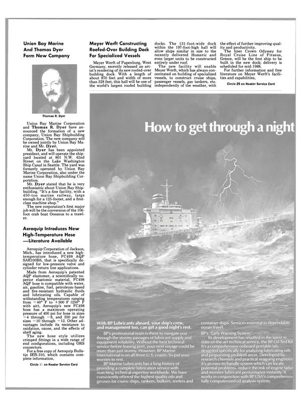 Maritime Reporter Magazine, page 16,  Nov 1986