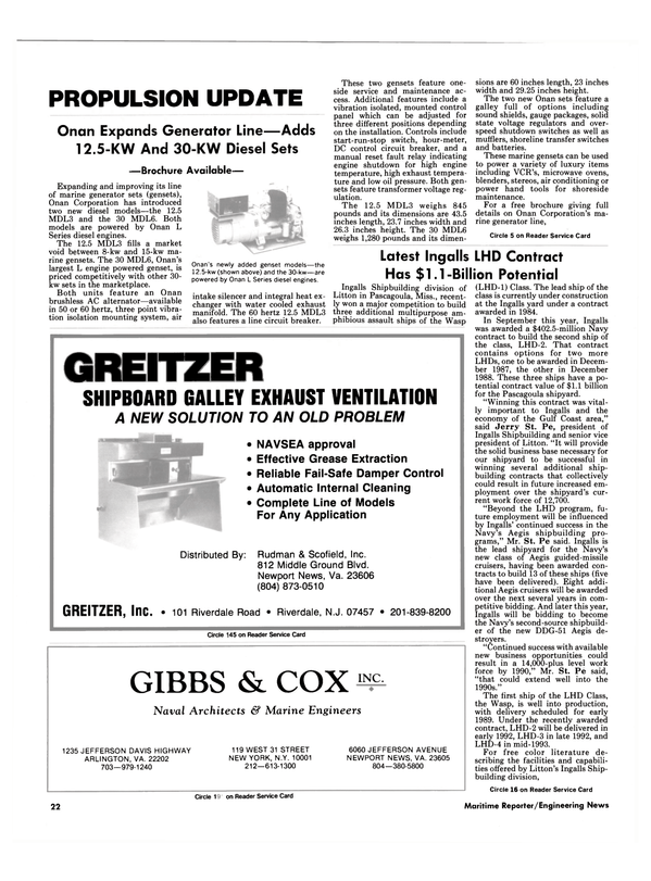 Maritime Reporter Magazine, page 20,  Nov 1986