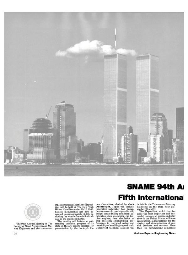 Maritime Reporter Magazine, page 22,  Nov 1986