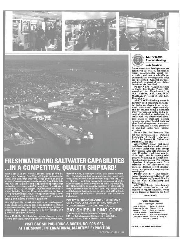 Maritime Reporter Magazine, page 26,  Nov 1986 Spencer Reitz