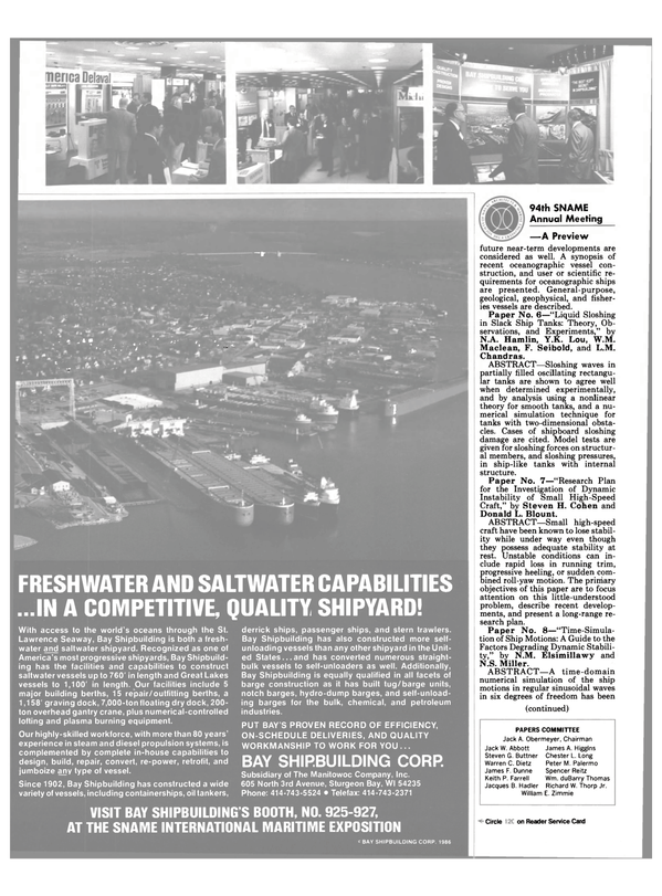 Maritime Reporter Magazine, page 26,  Nov 1986