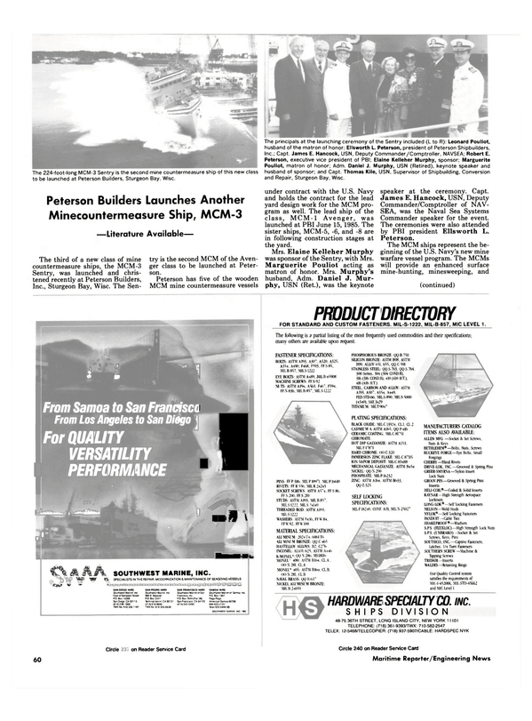 Maritime Reporter Magazine, page 56,  Nov 1986