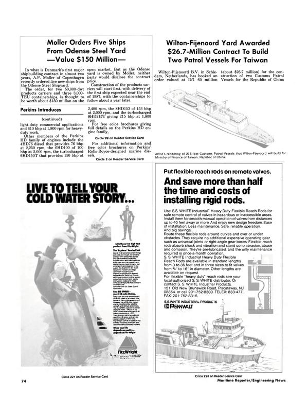 Maritime Reporter Magazine, page 70,  Nov 1986