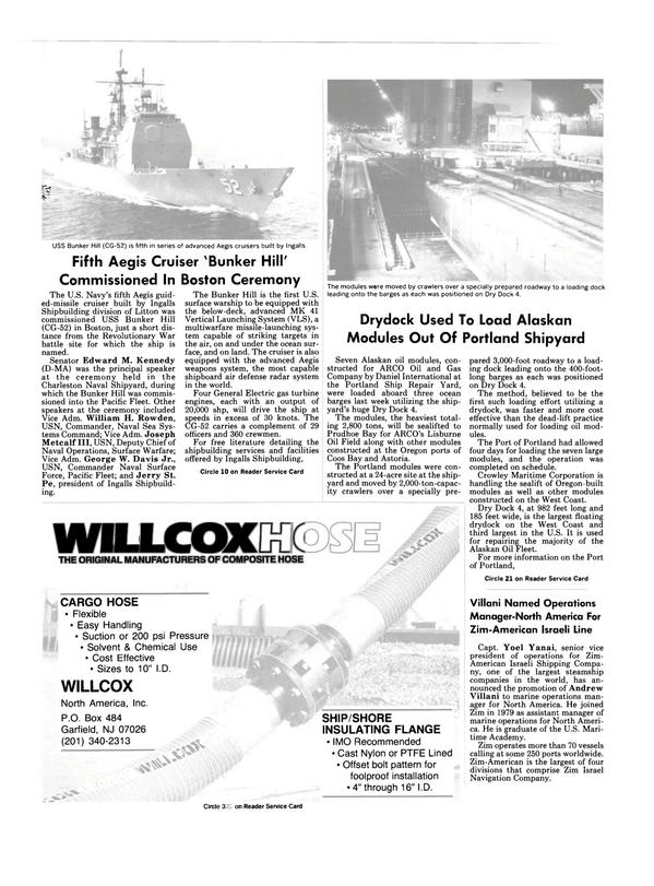 Maritime Reporter Magazine, page 72,  Nov 1986 Andrew Villani